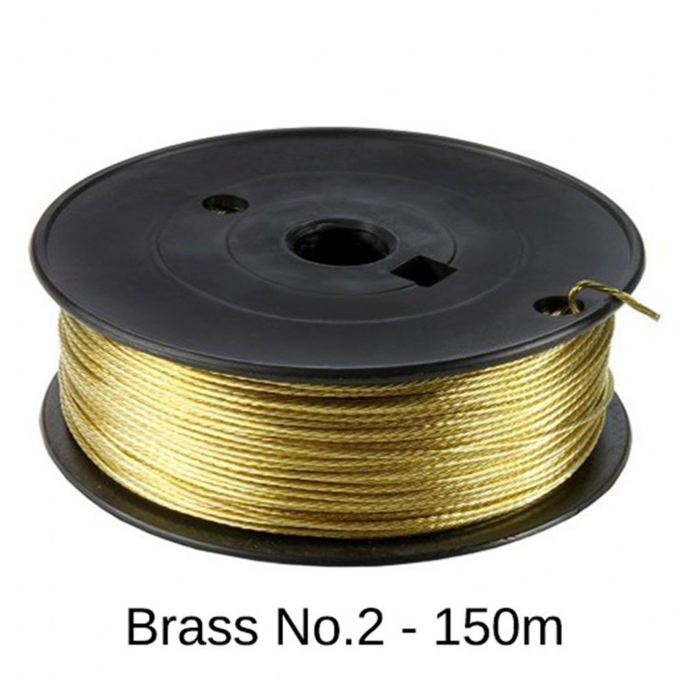 Brass Picture Hanging Wire (#2/11kg) - 150m Roll